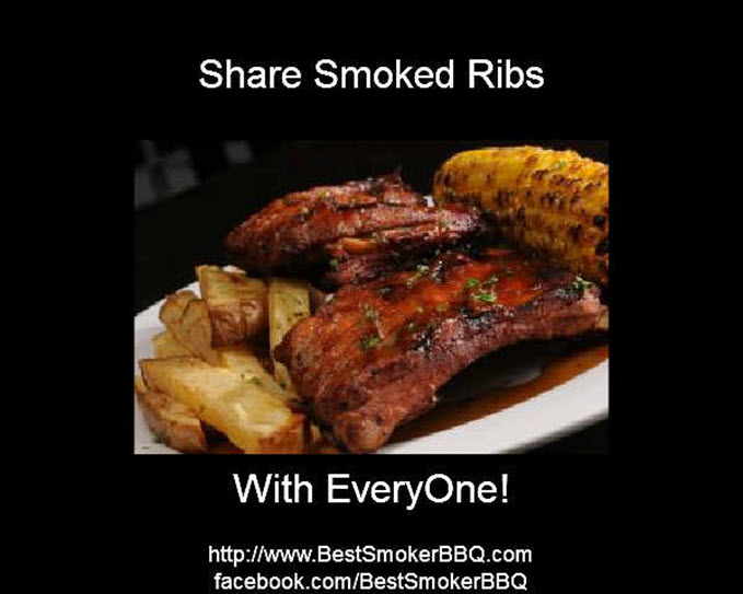 Share Smoked Ribs With Everyone